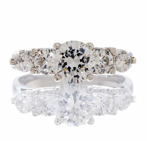 cubic zirconia | classic five stone ring images | Boutique CZ