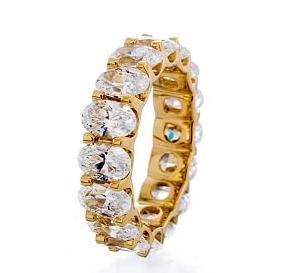cubic zirconia | oval cut eternity band images | Boutique CZ