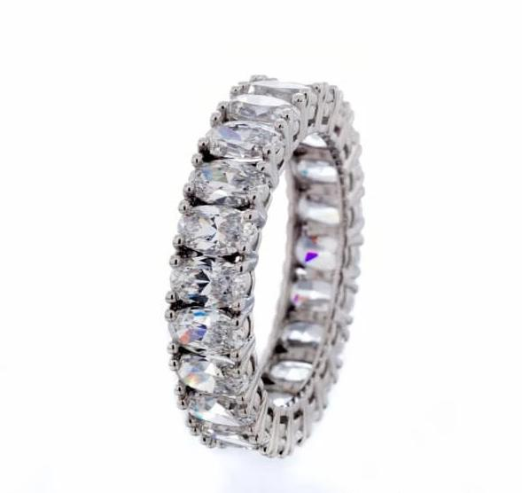 cubic zirconia | oval cubic zirconia eternity band image | Boutique CZ