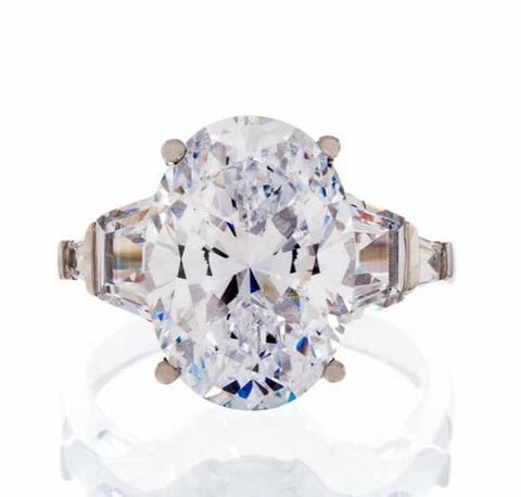 cubic zirconia | oval cut bling ring images | Boutique CZ