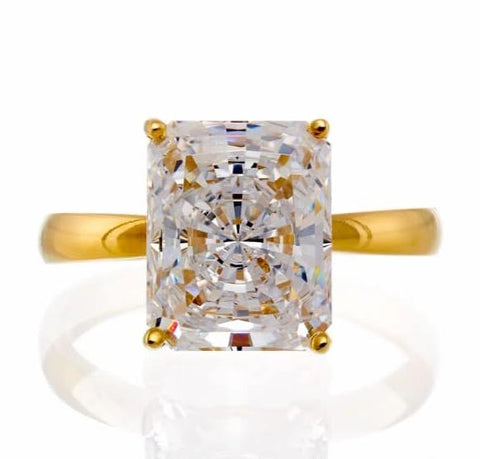 cubic zirconia | radiant solitaire engagement ring images | Boutique CZ