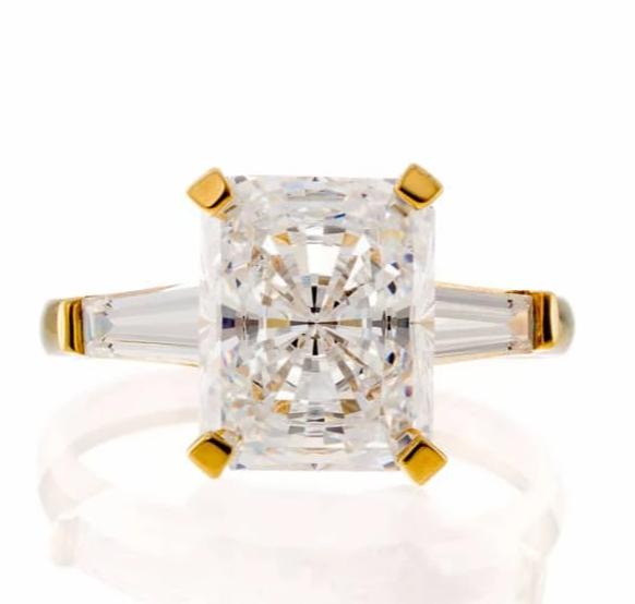 cubic zirconia | radiant baguette cut ring image | Boutique CZ