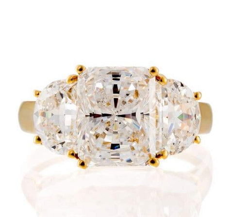 cubic zirconia | 2 carat radiant cut engagement ring images | Boutique CZ