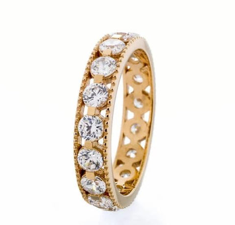 cubic zirconia | channel eternity band image | Boutique CZ