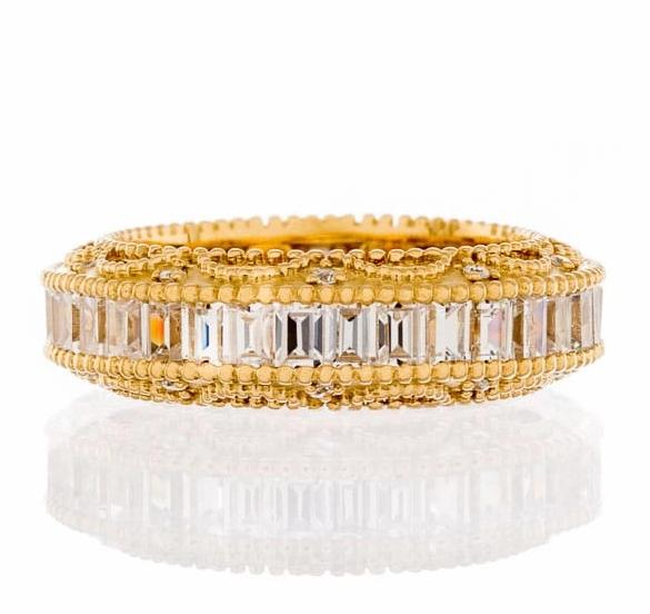 cubic zirconia | vintage baguette cut eternity band image | Boutique CZ