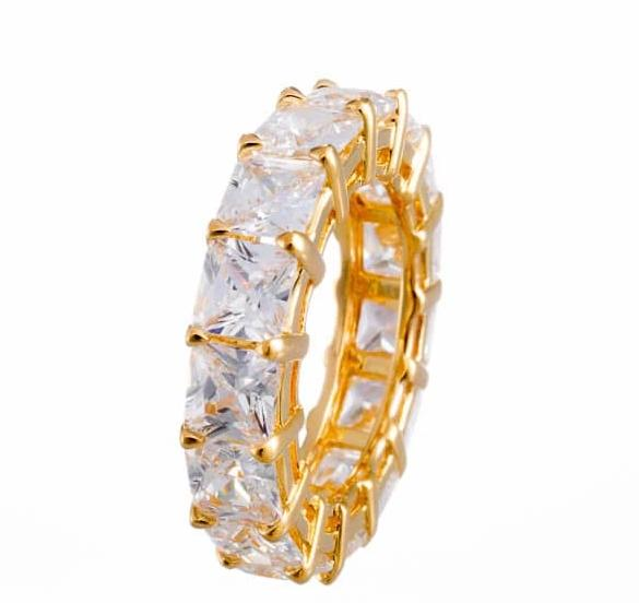 Cubic Zirconia | Princess Cut CZ Eternity Ring Image | Boutique CZ