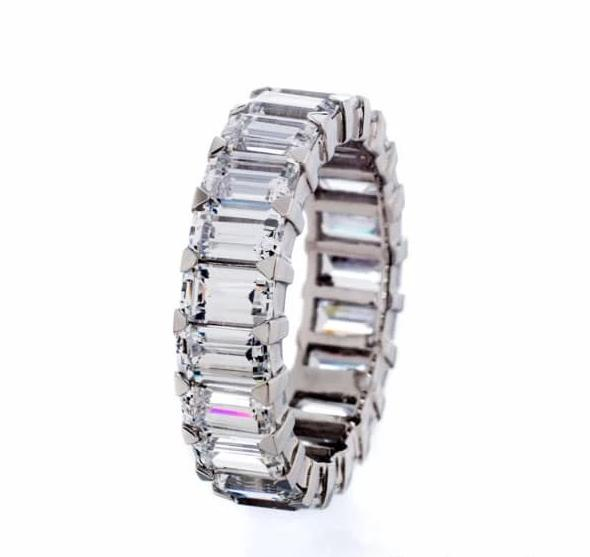 Cubic Zirconia | Radiant Cut Eternity Ring Images | Boutique CZ
