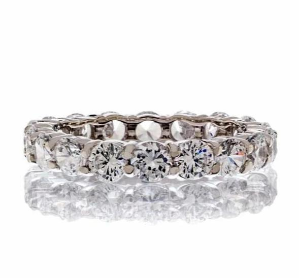 CLASSIC ROUND CUT CUBIC ZIRCONIA ETERNITY BAND