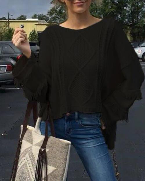 Weststylish Chic Tassel Knit Sweater