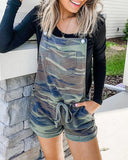 Weststylish Camouflage Strap Straight Jumpsuit