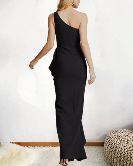 Sexy Off-Shoulder Strapless Irregular Ruffled Maxi Dress(4 Colors)