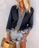 Weststylish V-Neck Printed Shirt