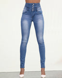 Weststylish High Waist Button Up Jeans