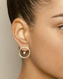 Weststylish Circle Back Earrings