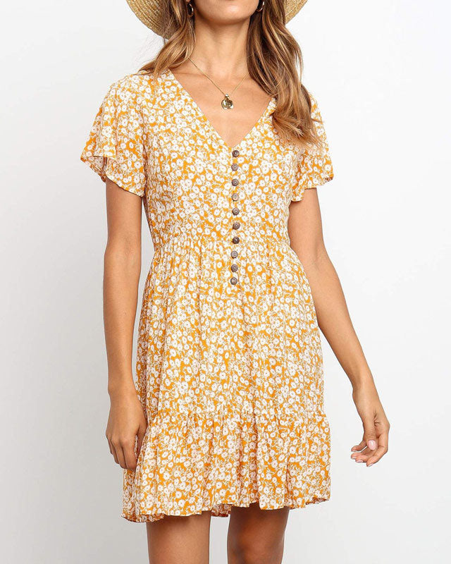 Weststylish V-Neck Print Dress