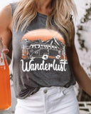 Weststylish Round Neck Pattern Letter Print Sleeveless Vest