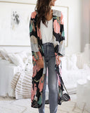 Weststylish Printed Cardigan Coat