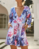 Weststylish Tie-Dye Casual Jumpsuit