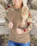 Weststylish Vintage Collar Floral Patchwork Hoodies