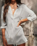 Weststylish Solid Color Shirt Jumpsuit