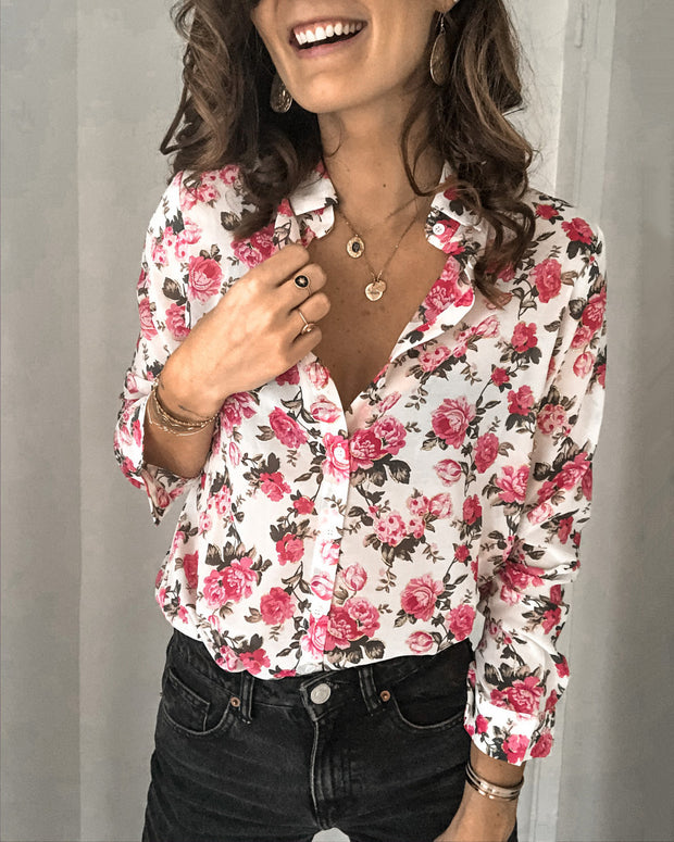 Valentines Day Romantic Flower Blouse