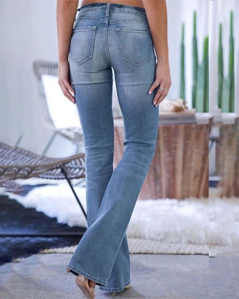 Weststylish Flared Skinny Blue Jeans