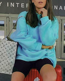 Weststylish Round Neck Candy Long Sleeve Sweater