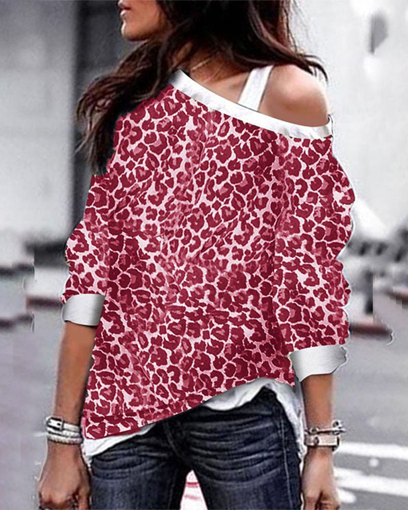 Weststylish Leopard Printed T-shirt