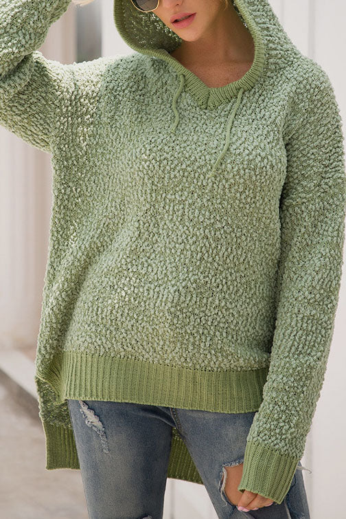 Weststylish Long Sleeve  Casual Green Hoodie