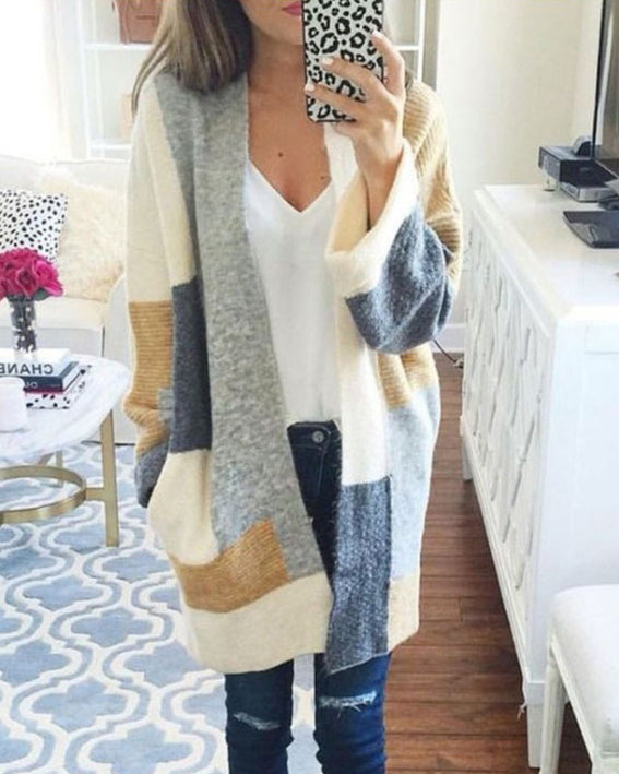 Weststylish Cardigan Color Sweater