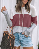Weststylish Casual Sports Colorblock Hoodie