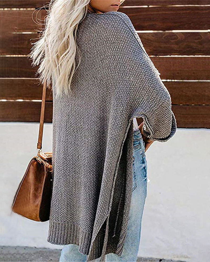 Weststylish Mid-Length Cardigan Sweater Coat