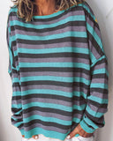 Weststylish Sweet Candy Stripe Print T-Shirt(4 Colors)