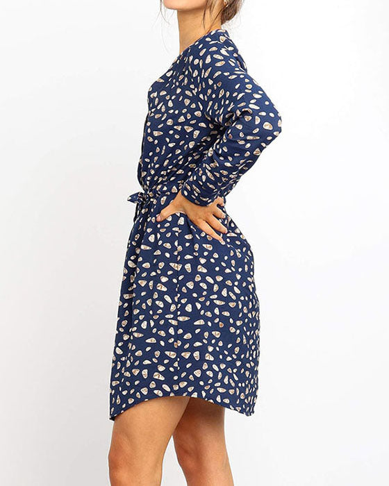 Weststylish Printed Knee Length Dress