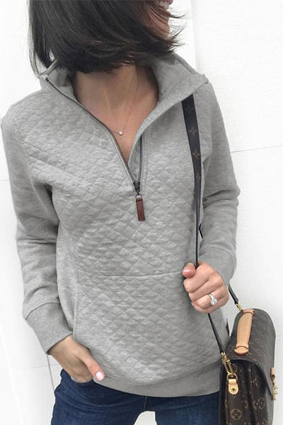 Weststylish Casual Zipper Pocket Blends Hoodies