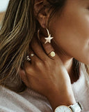 Weststylish Nasal Star Round Earrings Earrings
