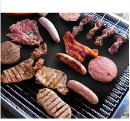 Reusable Non Stick BBQ Grill Mat Sheet Hot Plate Portable Easy Clean OutDoor Cooking Tool