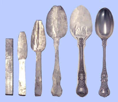How we make a Coburg pattern silver spoon by hand