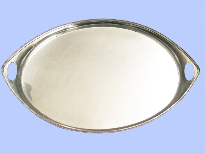 Large Oval Silver Tray