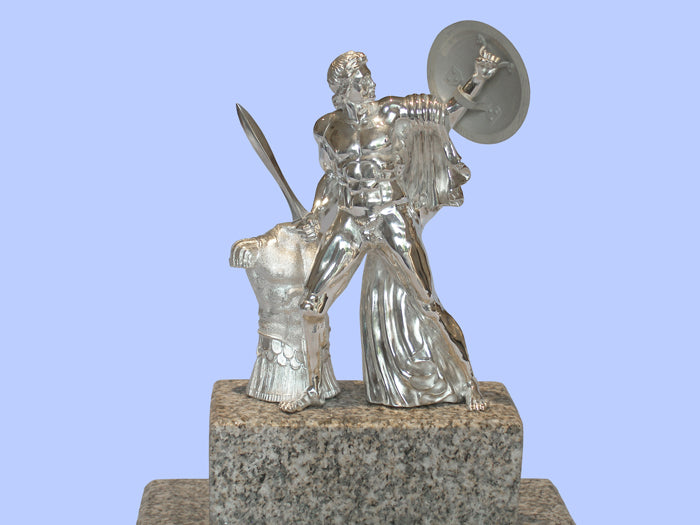 Silver Model of London's Achilles Statue