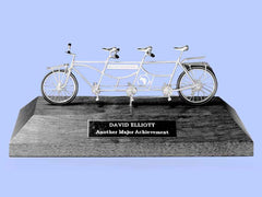Silver Model of a Bicycle For Three