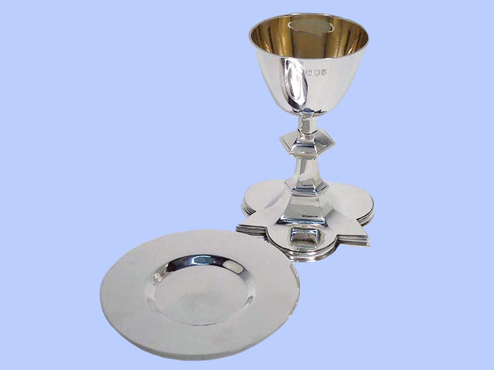 Victorian Silver Chalice and Paten - Recently Sold