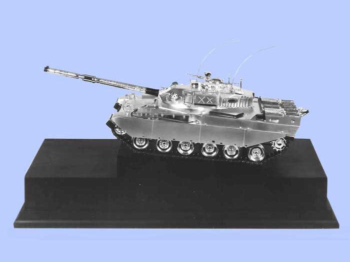 Silver Model of the Chieftain Mark 15 Tank