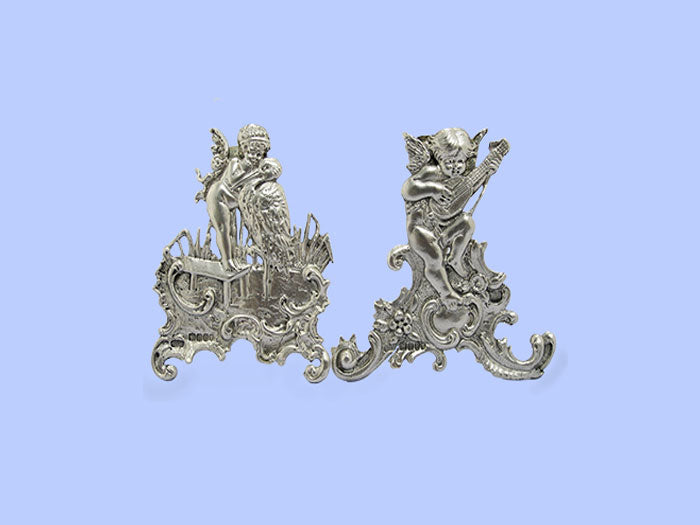 Pair of Silver 'Cherub' Placecard Holders