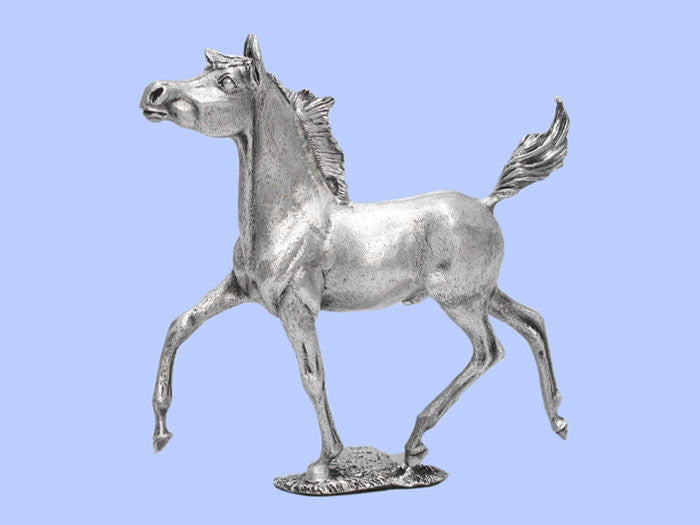 Silver Model of a Trotting Horse