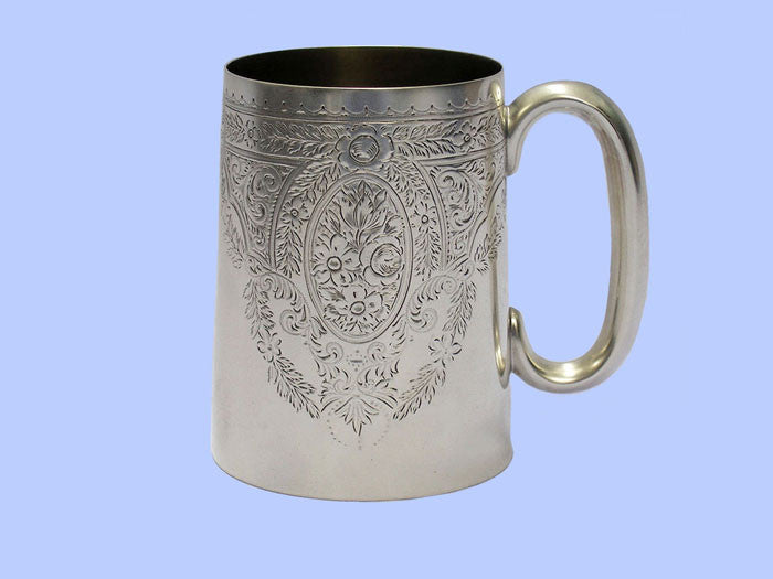 Large Victorian Straight-Sided Silver Mug