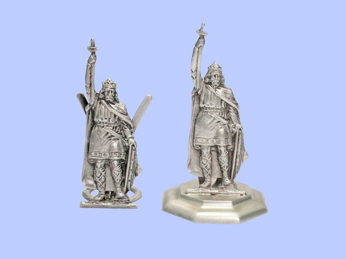 Two Silver 'King Alfred the Great' Placecard Holders