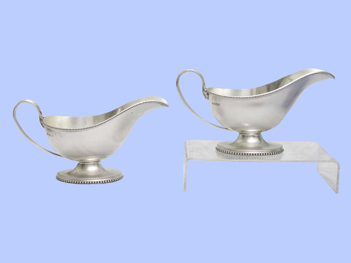 Pair of Silver Sauceboats 1920