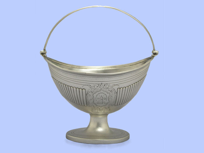 George III Half-Fluted Silver Sugar Basket