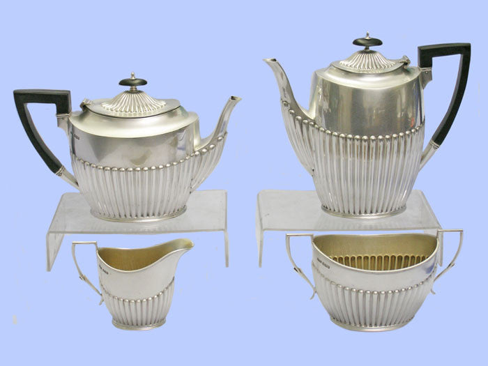 Victorian Four-Piece Silver Tea and Coffee Service